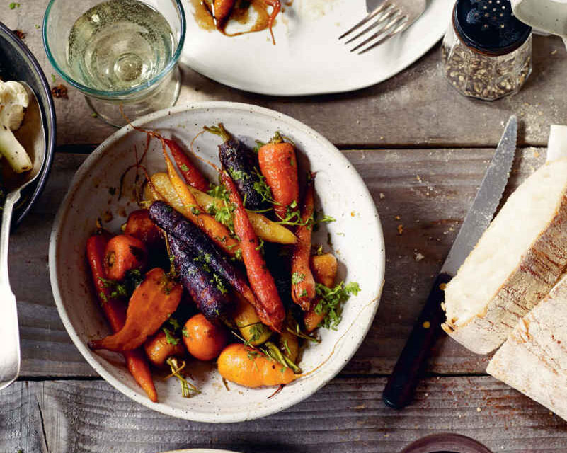 Honey-glazed carrots with chervil