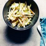 Kohlrabi, gherkin and apple salad