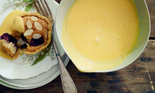 Lemon curd treacle tart