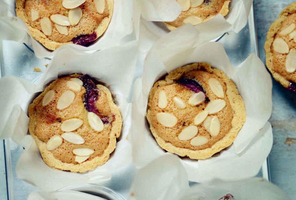 Little cherry Bakewell tarts