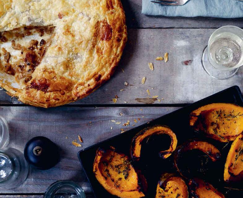 Roasted acorn squash, truffle oil and peanuts