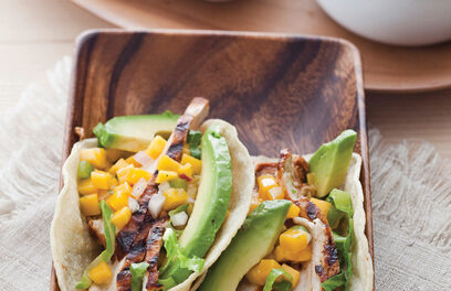 Simple Barbecued Chicken Taco With Backyard Mango Salsa