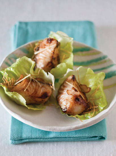 Black Cod in Butter Lettuce Wraps