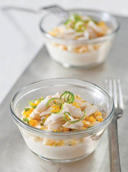 Chilled Crab And Corn Chawan Mushi