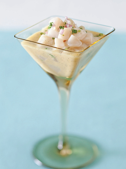 Chilled Scallop And Lychee Martini