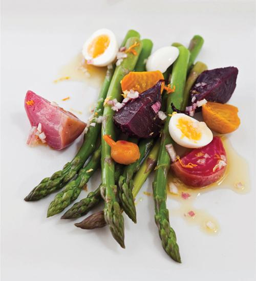 Salad Of Roasted Beets Asparagus