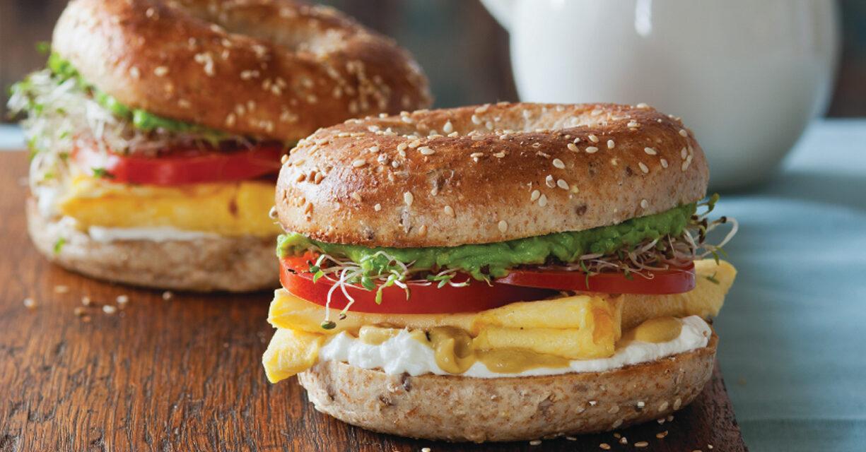 Breakfast Eggel Sandwich