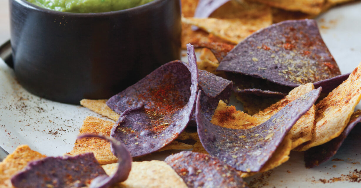 Bring the Heat Baked Blue Corn Chips