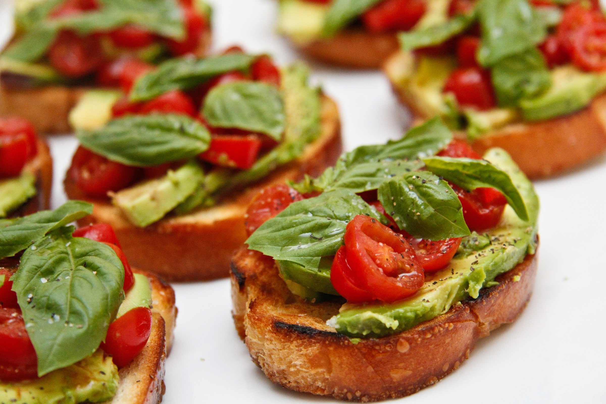 Bruschetta with Tomato and Avocado