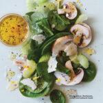 Meyer Lemon, Mushroom Celery and Spinach Salad