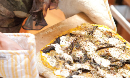 Butternut Squash, Portobello Mushroom , Caramelized Onion And Hazelnut Pizza