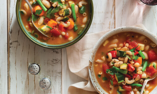 Roasted Red Pepper Minestrone Soup