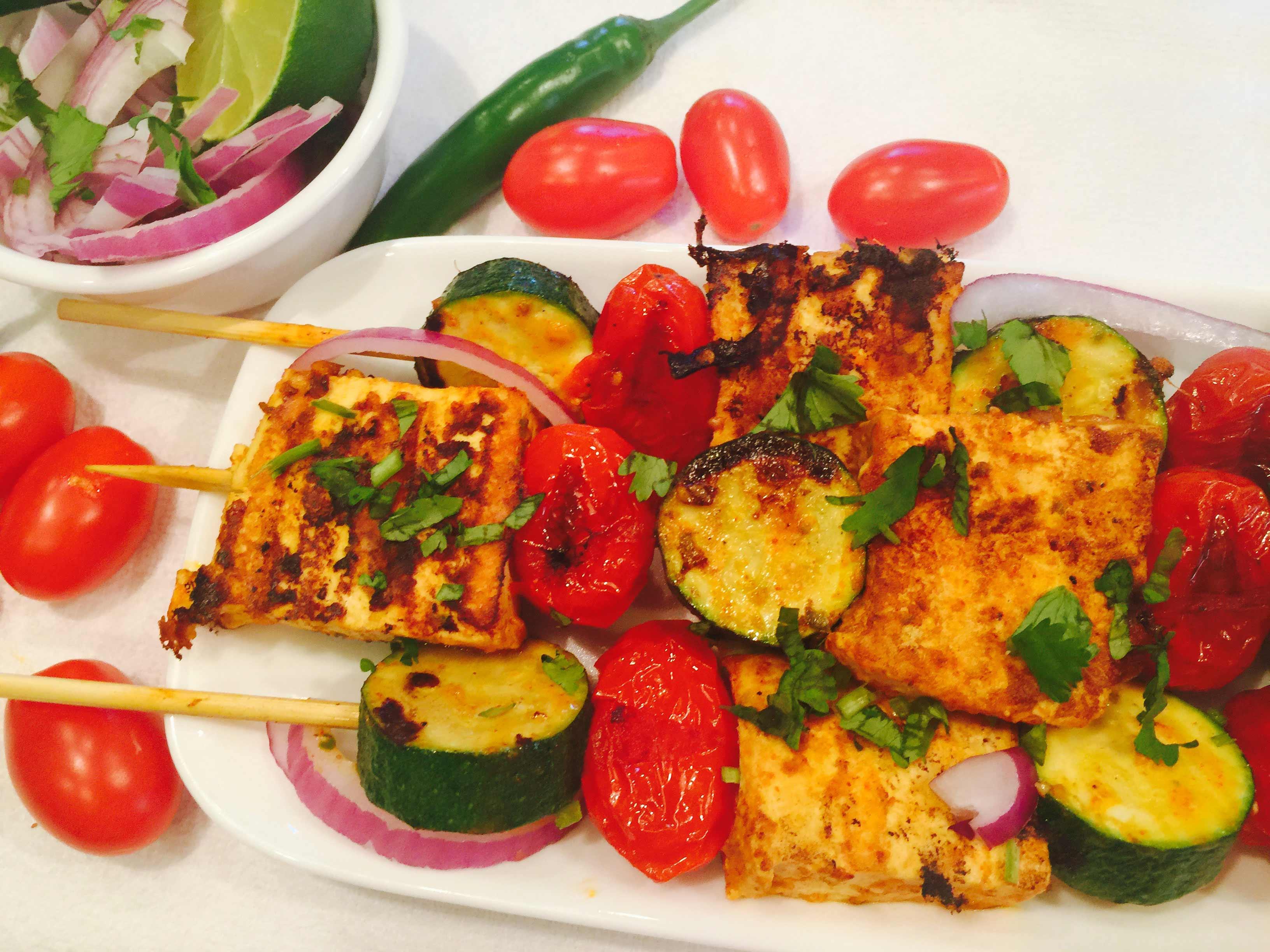 Tandoori Tofu with Grilled Vegetables