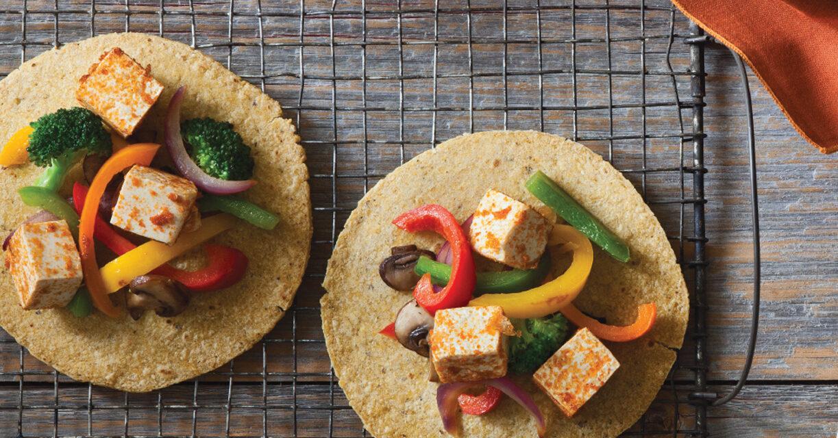 Tofu, Broccoli and Mashroom Fajitas