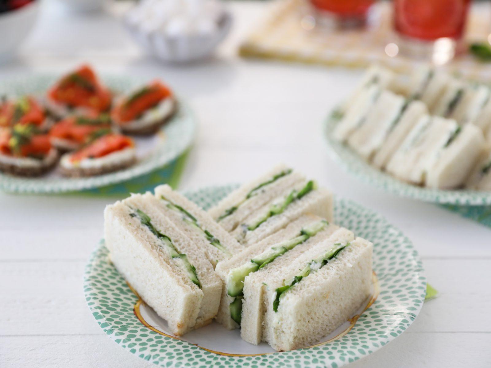Cucumber and Watercress Tea Sandwiches