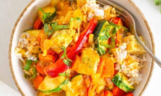 Panang Curry with Tofu and Pineapple